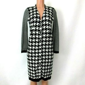 Mustard Seed Black Houndstooth Sweater Dress